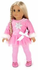 Pink Snowflake Top & Striped Leggings for 18 inch American Girl Doll Clothes