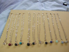 Silver Plated Natural Stone Costume Necklaces & Pendants
