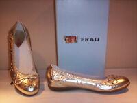 Scarpe basse ballerine eleganti Frau donna shoes women pelle oro nuove new 37