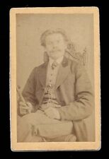 Maxim Gorky 1895 Antique CDV Photo Imperial Russian Author Horze of Weissemhorn