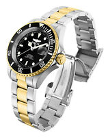 Invicta 28663 Connection Men's Watch NEW 40MM Black Dial SS Two-Tone Bracelet