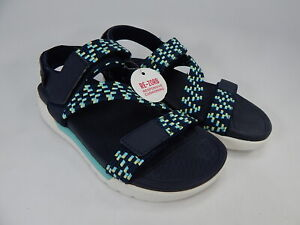 Ryka Rowana Size US 8 M EU 38 Women's Elastic Gore Sport Sandals Navy Blazer