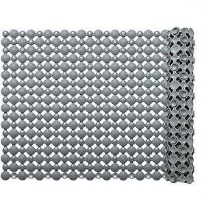 Non Slip Bathroom Mat Square Anti Slip Bath Mat Shower Floor Mat with Drain Hole