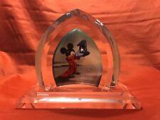 Disney Art Glass Fantasia Castle Window Toby Bluth Mickey Wizard Hat Crystal J7