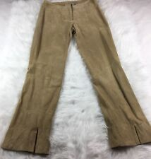 New Wilsons Leather Womens Maxima Beige Suede Leather Pants Lined Size 4