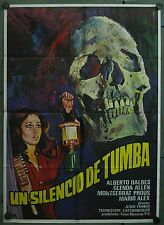 WC15 JESS FRANCO HORROR Un Silencio De Tumba ORIGINAL 1sh SPANISH c/o POSTER