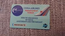 China Airlines 747  plane airways Mercury Telecom UK phone card British seller
