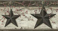 Rustic Barn Star Border Pur44601B wallpaper country gray Easy-Walls prepasted
