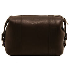 Ashwood - Brown Wash Bag in Smooth Buffalo Leather