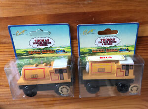 1997 Learning Curve Wooden Thomas Train Ben & Bill! NEW