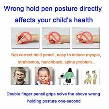 Pencil Grips Kids-Ergonomic Training Pencil Grip,Lasllaves 8 Pack Pencil for Pen