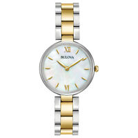 Bulova Classic Women's Quartz Mother of Pearl Dial Two-Tone 27mm Watch 98L226