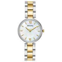 Bulova Classic Women's 98L226 Quartz Mother of Pearl Dial Two-Tone 27mm Watch