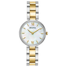 Bulova Classic Women's 98L226 Quartz Mother of Pearl Dial Two-Tone 27mm Watch