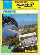 Rare French Soft Cover Panini Collectible Sticker Book No.3.09 Découvertes