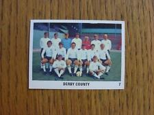 1970/1971 The Sun Football Swap Card: 007 - Derby County - Team Group Image (red