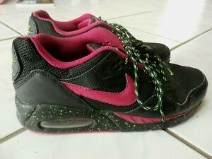 Nike Air Max Womens Size 7 M Splatter Black Pink Green EUC