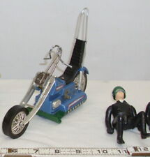 HASBRO SCREAM'N DEMONS BLUE MOTORCYCLE BATTERY TOY 1971