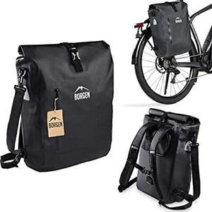 Borgen Fahrradtasche für Gepäckträger 3in1Fahrradrucksack Gepäckträgertasche 25L