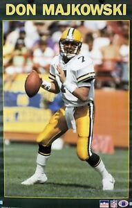 Vintage 1989 DON MAJKOWSKI 34 x 22 Green Bay Packers Starline Poster RARE