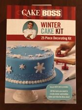 Cake Boss Christmas Winter Holiday Cake 25 Piece Decorating Kit Sealed Snowflake