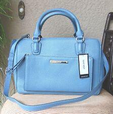 NWT Nine West Box Satchel Handbag Purse Color Blue