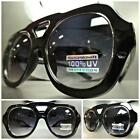 OVERSIZE CLASSIC VINTAGE RETRO AVIATOR Style PARTY SUNGLASSES Black Silver Frame
