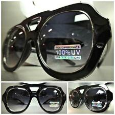 OVERSIZE CLASSIC VINTAGE RETRO Style PARTY SUN GLASSES SHADES Black Silver Frame