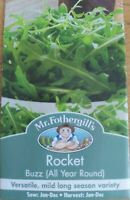 Mr Fothergills - Pictorial Packet - Herb - Rocket Buzz - 350 Seeds