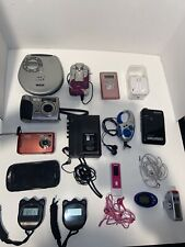 Lot of 20 electronics Phone Cameras Stop Watches Headphones Mp3 And More
