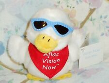 Aflac Vision Now Plush Talking Advertising White Duck In Sun Glasses Mint W/ Tag