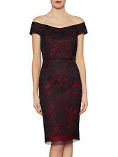 BNWT RRP £295 DESIGNER GINA BACCONI BLACK RED LACE DRESS UK18