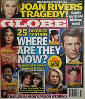 Globe Tabloid Sept 15 2014 Joan Rivers Tragedy 25 TV Stars Lynda Carter Mork