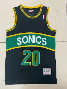 Gary Payton Seattle Supersonics Throwback Swingman Jersey Black Size S-XXL