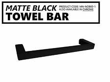 High Grade Electroplated MATTE BLACK Small Square Bathroom Towel Bar Rail Holder