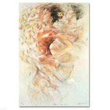 """GARY BENFIELD """"SUMMER ROMANCE"""" LE SN SERIGRAPH COA ON DECKLE EDGE PAPER"""