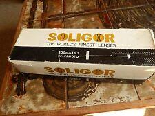 SOLIGOR 400MM F6.3 TELEPHOTO LENSE made in japan