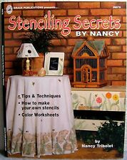 """""""Stenciling Secrets"""" Tips & Techniques """"How to"""" Project Design Instruction Book"""