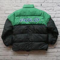 Vintage Polo Sport Ralph Lauren Big Logo Down Jacket Size M S Puffer Puffy 90s
