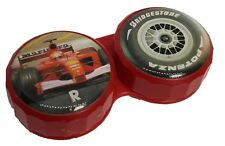 Red F1 Race Car Flat Contact Lens Storage Soaking Case - L+R Marked - UK Made