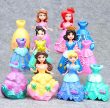 6 x DIY Changed Dress Disney Princess Magiclip Action Figures Doll Playset Toy