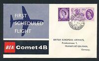 86045) GB / UK BEA FF London - Frankfurt 1.8.60, sp cover