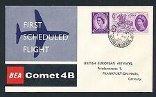 86045) GB/UK Bea FF londres-francfort 1.8.60, sp cover