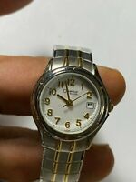 Ladies Dual Tone Caravelle By Bulova A3 Analog Watch With Date Feature
