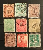 Belgium postage stamps lot of 9 old         F