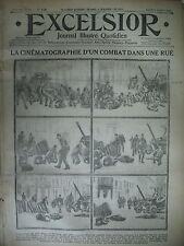 WW1 N° 1420 CINEMATOGRAPHE COMBATS DE RUES ARTILLERIE JOURNAL EXCELSIOR 1914