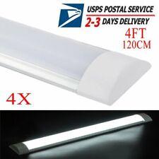 4Pack 4Ft 40W Led Batten Light Shop Light Utility Cool White for Office Garage