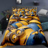 Yellow Minions Single/Double/Queen/King Size Bed Doona/Duvet/Quilt Cover Linen