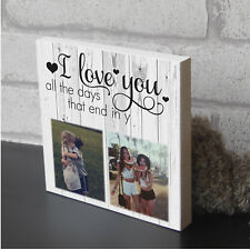 Personalised Best Friend Birthday Wooden Picture Plaque Photo Block Present Gift