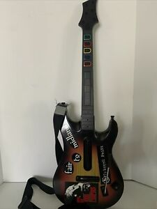 PS3 PlayStation 3 Guitar Hero Sunburst Wireless WITH STRAP 95451.805 (No Dongle)